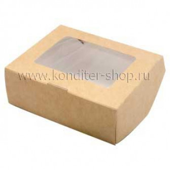 Коробка с окном 10*8*3,5 см, крафт