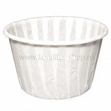 Форма бумажная Маффин, белые 50*40 мм, 100 шт
