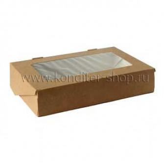 Коробка с окном 20*12*4 см, крафт