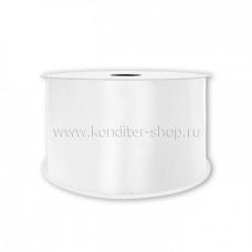 Атласная лента белая 0,7 см