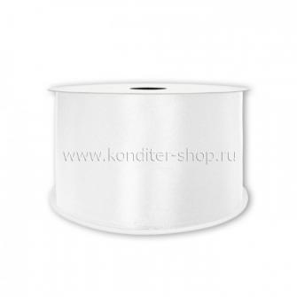Атласная лента белая 2,5 см