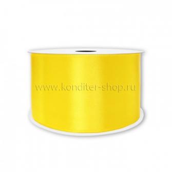 Атласная лента желтая 7мм