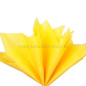 Бумага тишью желтая