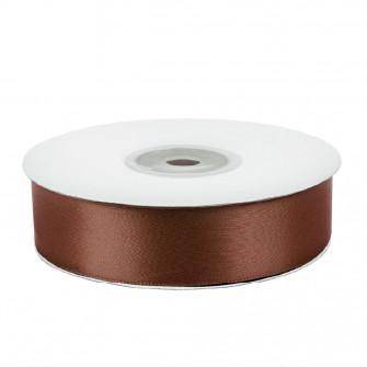 Атласная лента коричневая 1,2 см