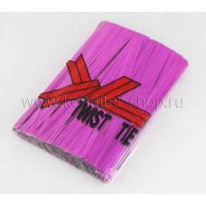 Проволока перевязочная Розовая 10см, 100 шт