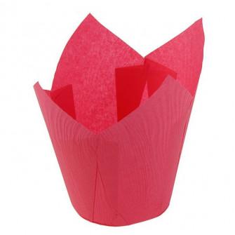 Форма бумажная Тюльпан 50*80 мм (темно-розовая), 180 шт