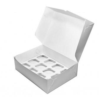 Коробка на 12 капкейков из белого картона
