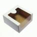 Коробка с окном 18*18*10 см, белая
