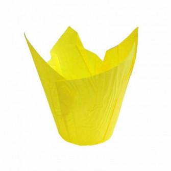 Форма бумажная Тюльпан 50*80 мм (желтая), 180 шт