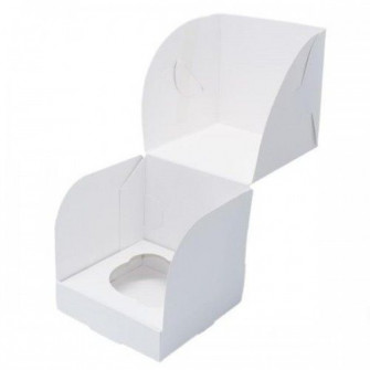 Коробка на 1 капкейк из белого картона