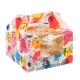 """Коробка на 4 капкейка """"Цветы"""""""