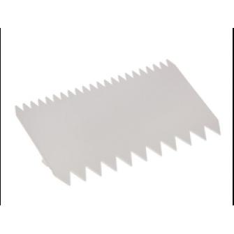 Шпатель пластиковый Зубчики, 11х7.5 см