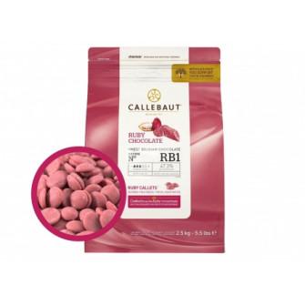 Шоколад Callebaut в таблетках RUBY, рубиновый 47,3%, 2,5 кг