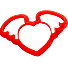 """Форма для пряников """"Сердце с крыльями"""", 11.5 см"""