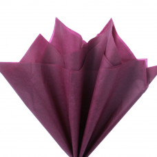 Бумага тишью бордовая, 50х66 см, 10 л