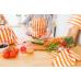 Фартук для кухни Персиковая полоска 56х94 см