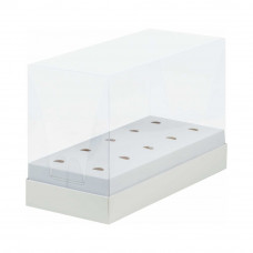 Коробка под кейк-попсы белая 24х11х16 см