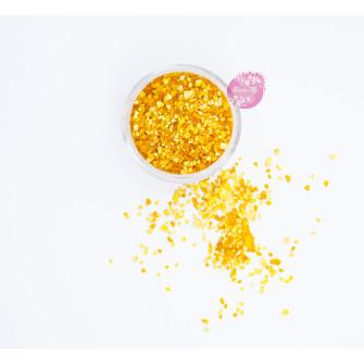 Пищевые блестки Оранжевые 3-5 мм, 5 г