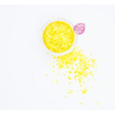 Пищевые блестки Желтые 3-5 мм, 5 г