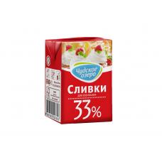 """Натуральные сливки """"Чудское озеро"""" 33%, 200 мл"""