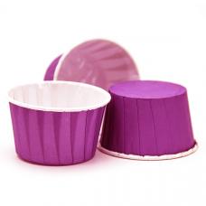 Форма бумажная Маффин, ламинир.фиолетовая 50*40 мм, 100 шт