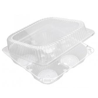 Пластиковый контейнер на 4 капкейка