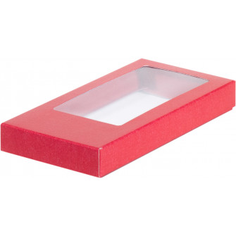 Коробка д/шоколадной плитки красная, 18х9х1.7 см