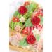 """Сахарные фигурки """"Розы с цветочками"""", 15 шт"""