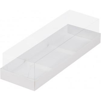 Коробка для муссовых пирожных, 3 ячейки, белая