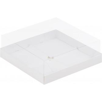 Коробка для муссовых пирожных, 4 ячейки, белая