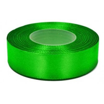 Атласная лента зеленая 20 мм