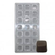 """Поликарбонатная форма """"Куб"""", 21 ячейка"""
