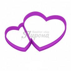 "Форма для пряников ""Двойное сердце"", 11 см"