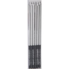 Набор свечей Серебро 16 см, 6 шт
