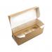 Коробка на 3 капкейка с окном, крафт