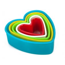 """Набор форм для пряников """"Сердце"""", 5 шт, цвет микс"""