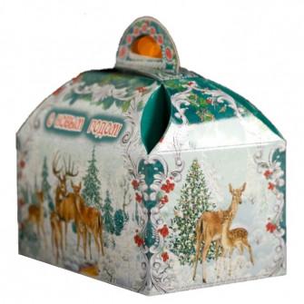 "Коробка-сундучок ""Олени в лесу"", 18.5х12.5х24.5 см"