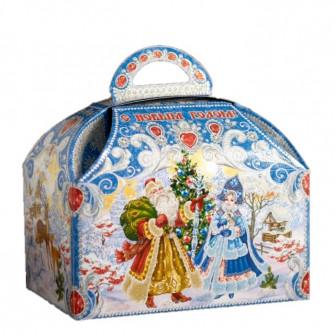 """Коробка-сундучок """"Синий иней"""", 18.5х12.5х24.5 см"""