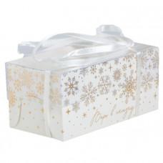 """Коробка на 2 капкейка """"Снежинки"""", 16х8х7,5 см"""