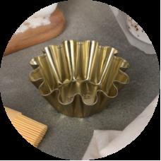 Форма металлическая для кексов, d9 h4 см