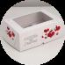 """Коробка на 6 капкейков с окном """"Любовь это счастье"""""""