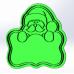 Форма для пряников с оттиском Дед Мороз №1, 9.5 см