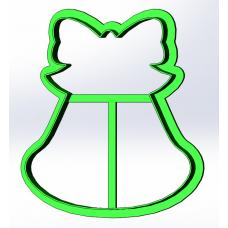 Форма для пряников Колокольчик с бантом, 9 см