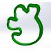Форма для пряников Привидение 8 см