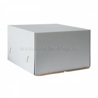 Коробка белая 24*24*22 см, Микрогофра