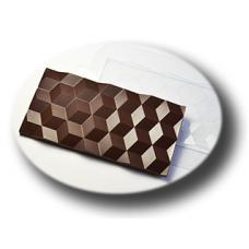 "Форма для шоколада ""Плитка Кубики"""