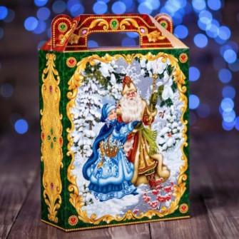 """Коробка подарочная """"С Новым Годом"""", 17,5х14х6 см"""