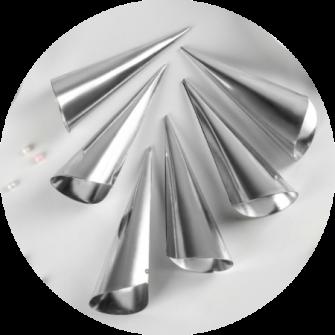 Набор форм для круассанов и трубочек, 6 шт