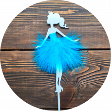 """Топпер пластик """"Принцесса в голубой юбке"""""""