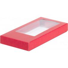 Коробка д/шоколадной плитки красная, 16х8х1.7 см